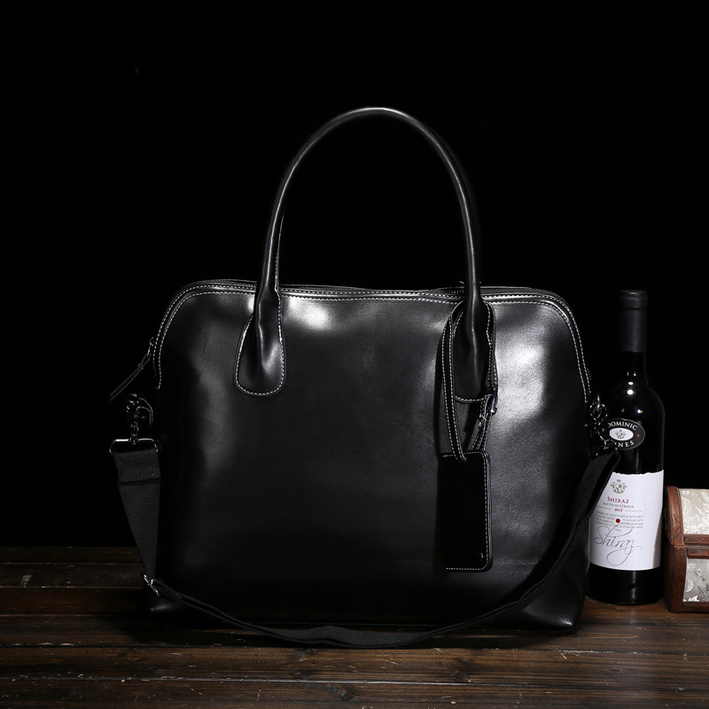 ФОТО Men Leather Handbags Original Design British Style Men's Fashion Casual Shoulder Messenger Bags