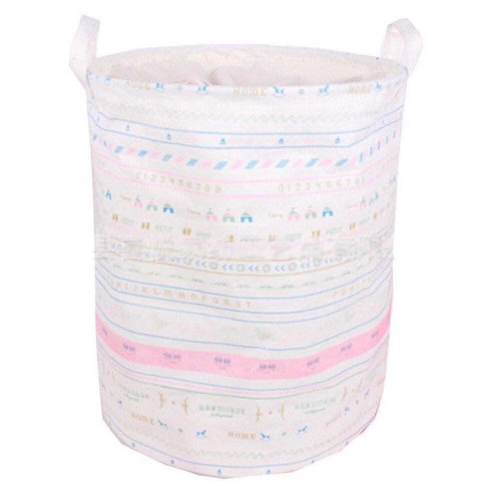 Unique Foldable Cotton Linen Washing Clothes Laundry Basket Bag Hamper Storage