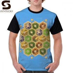 Settlers Of Catan T Shirt Settlers Of Catan T-Shirt Summer 4xl Tee Shirt Man Fun Short-Sleeve 100 Polyester Printed Tshirt(China)