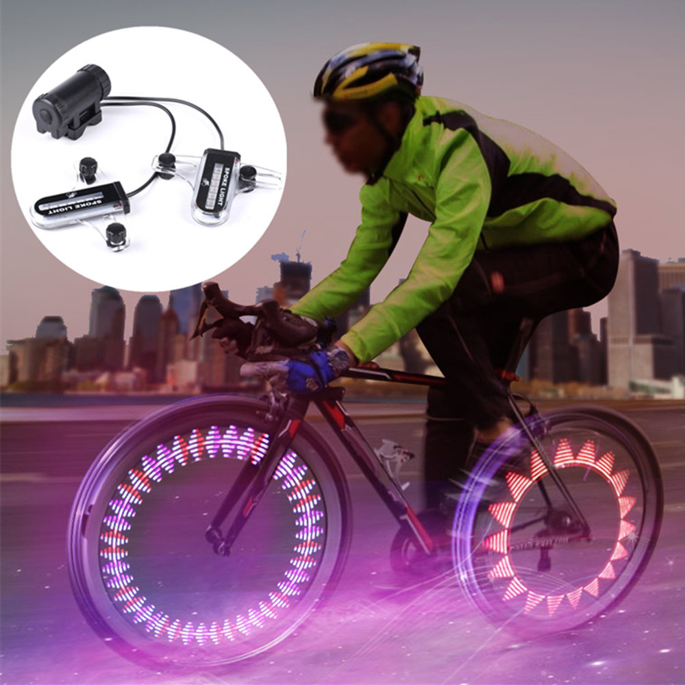 2x 14 LED Induction Bicycle Wheel Signal Tire Spoke Light Waterproof 3x AAA battery 12hrs when it works bike accessories 30