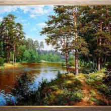 Cross Stitch Kits Crafts 14CT Unprinted landscapes, River Forest Embroidered Handmade Art DMC Oil Painting Set Wall Home Decor 3