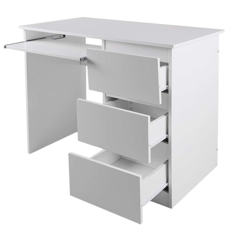 Bureau 1m Computertafel Wit