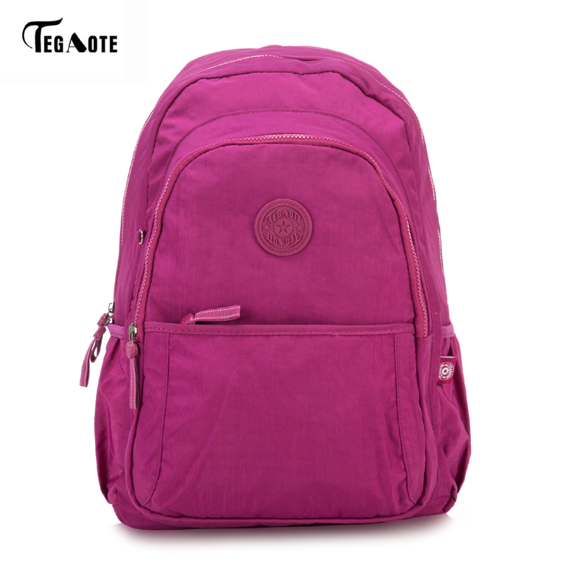 TEGAOTE Large Capacity Backpack Women Preppy School Bags For Teenagers Men Nylon Travel Bags Girls Laptop Backpack Mochila 2017 japan hot cartoon tokyo ghoul anime 3d jacquared students school backpack women bags large capacity men school bags mochila
