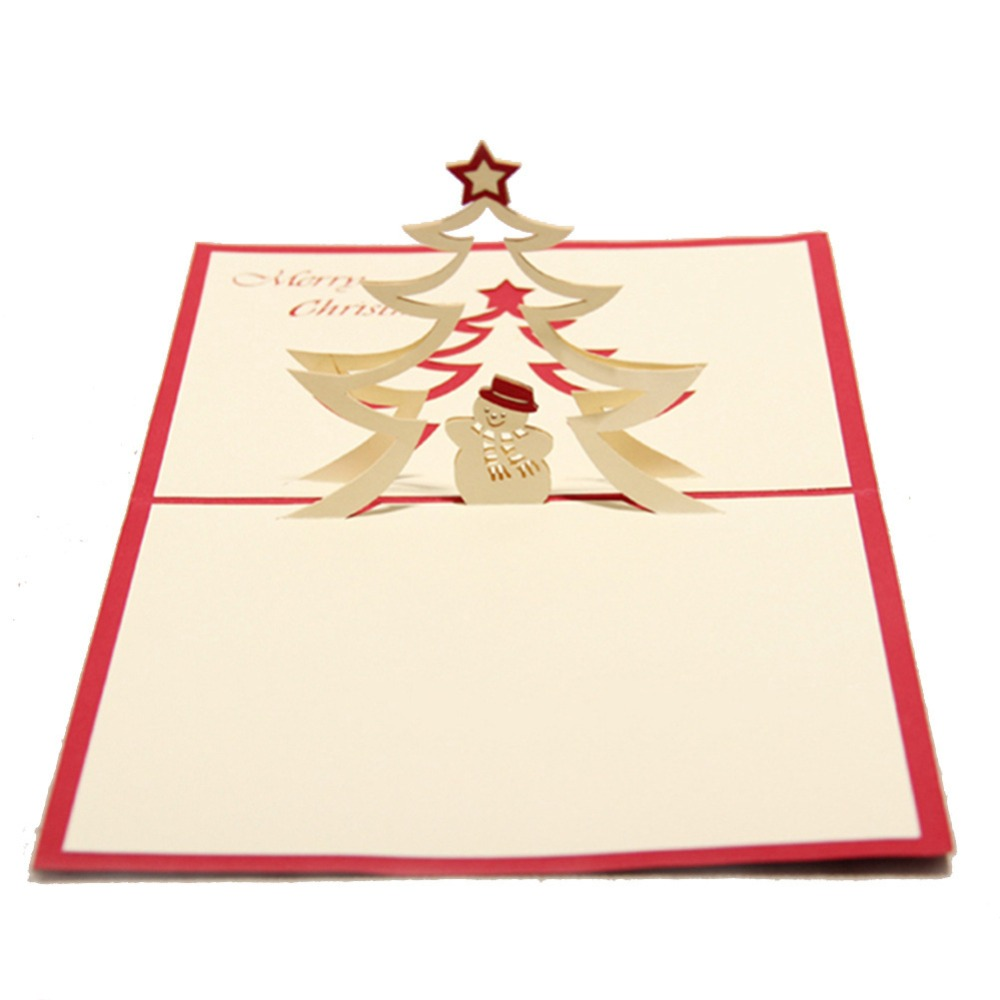 Diy 3d handmade pop up greeting cards paper card cutout sculpture diy 3d handmade pop up greeting cards paper card cutout sculpture merry christams tree star snowman new year gift cards souvenir on aliexpress alibaba kristyandbryce Images