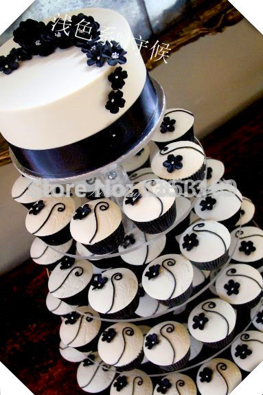 5 tier birthday party decoration of tray cupcake stand for wedding