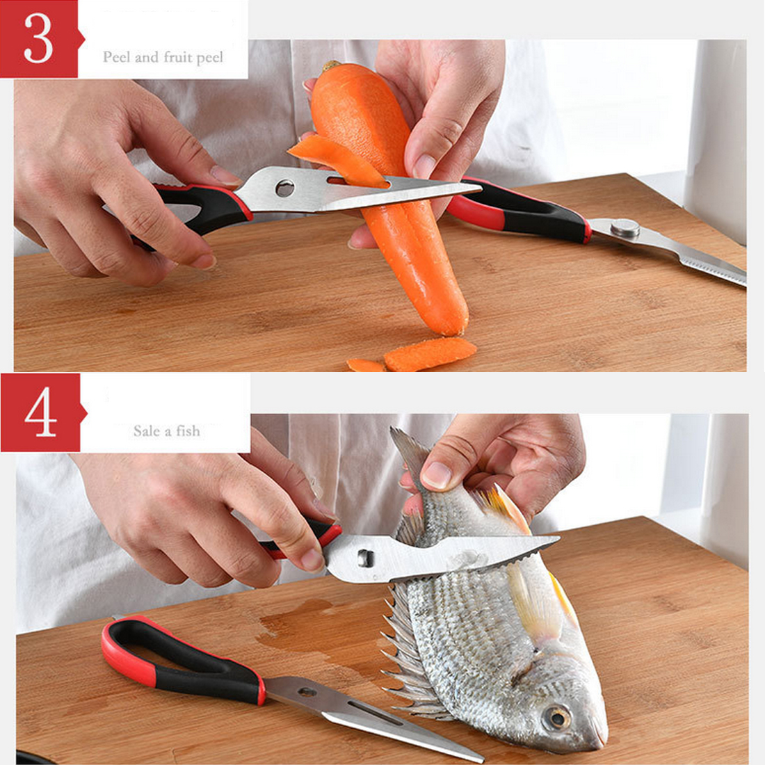 2 в 1 многофункциональная Кухня инструменты Нержавеющая сталь Heavy Duty Кухня ножницы с магнитным держателем куриные ножницы для костей