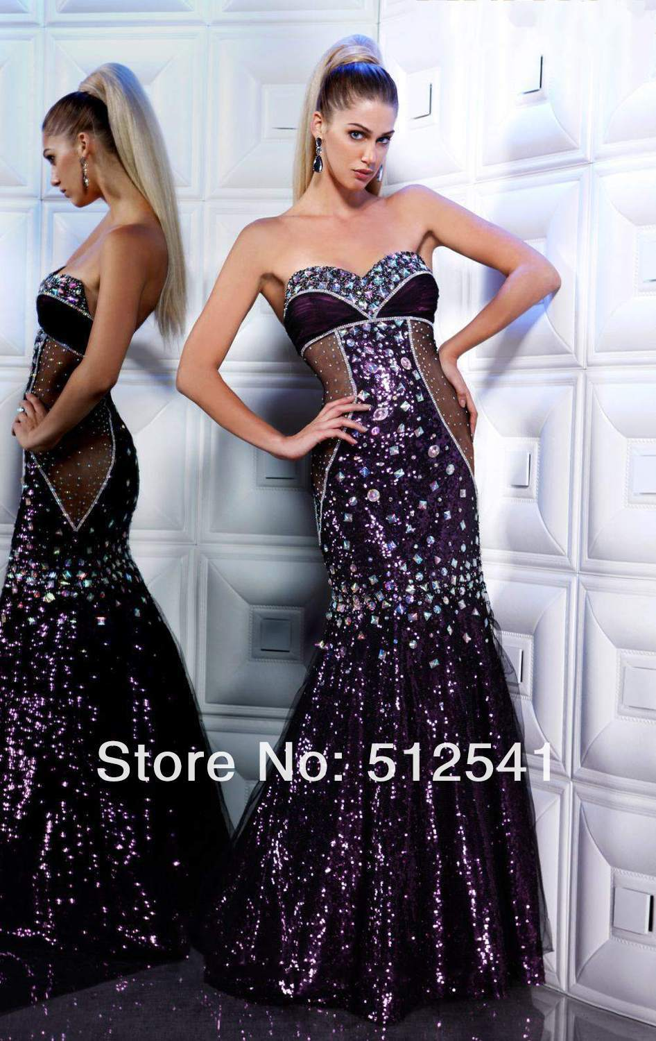 Purple Hottest Party Dress Prom Dresses 2019 Vestidos De Gala Long Sexy Sheath Sweetheart Open Back Sequin Rhinestone Beads With Traditional Methods Weddings & Events