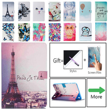 For Samsung Galaxy Tab A 9.7 T550 T555 Case Cover Stand Cartoon Leather Case For Samsung Galaxy Tab A SM-T550 Tablet Case Funda yh hybrid stand silicone armor pu leather tpu back case cute cover for samsung galaxy tab a 9 7 inch tablet sm t555 t550 t555c