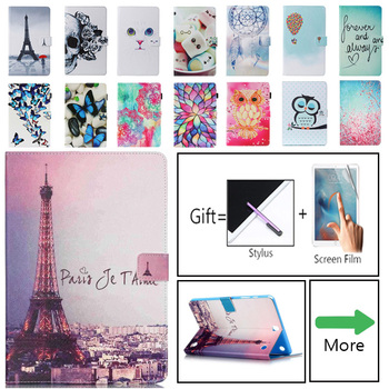 For Samsung Galaxy Tab A 9.7 T550 T555 Case Cover Stand Cartoon Leather SM-T550 Tablet Funda