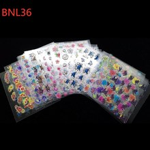 30 Sheets Nails Designs Stickers Self-adhesive Flower Decals Decoration Art Nail Accessories Supplies A181-210