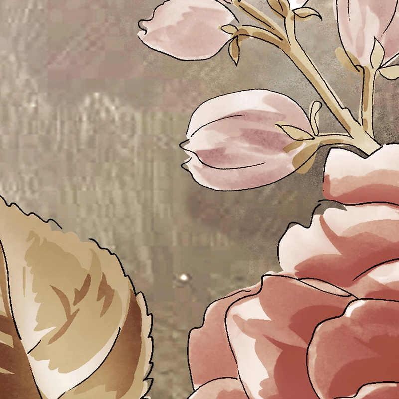 מותאם אישית קיר טפט אירופאי סגנון רטרו פרחים תמונה קיר ציור דביק עמיד למים בד סלון קיר מדבקה