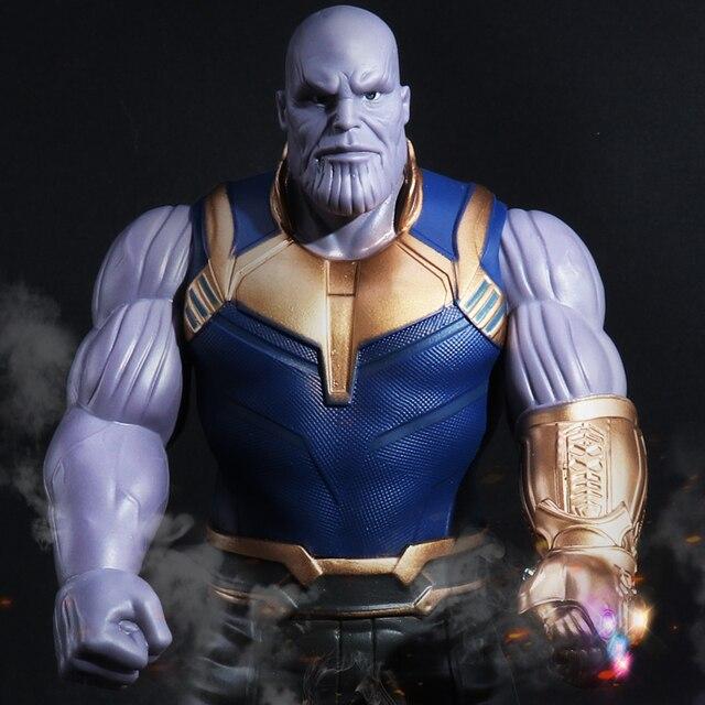 33 cm Vingadores Thanos Infinity Gauntlet Infinito Guerra Superhero PVC Toy Figuras de Ação Homem De Ferro Anime Vingadores Thanos Movable Boneca