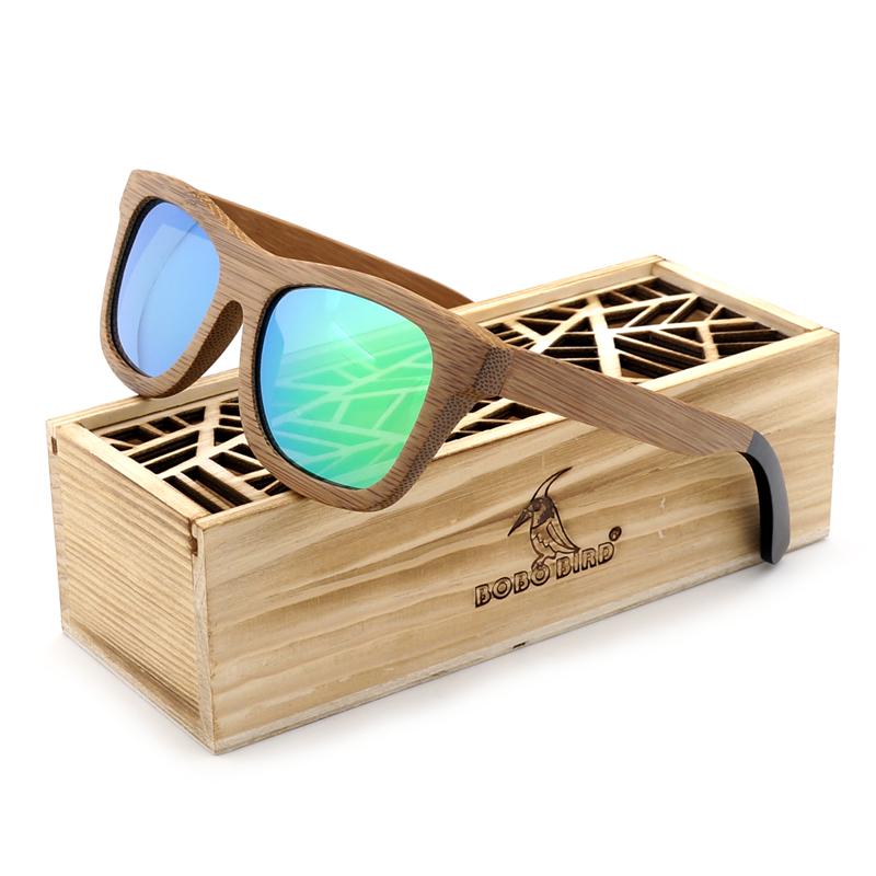 BG007 bamboo sunglasses for men and women polarized sun glasses eyewear (23)