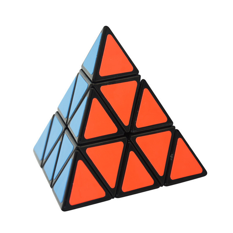 Black White Color Pyramid Neo Speed Antistress Cube Magic Children Intellectual Twist Puzzle Triangular Cube Game Special Shaped