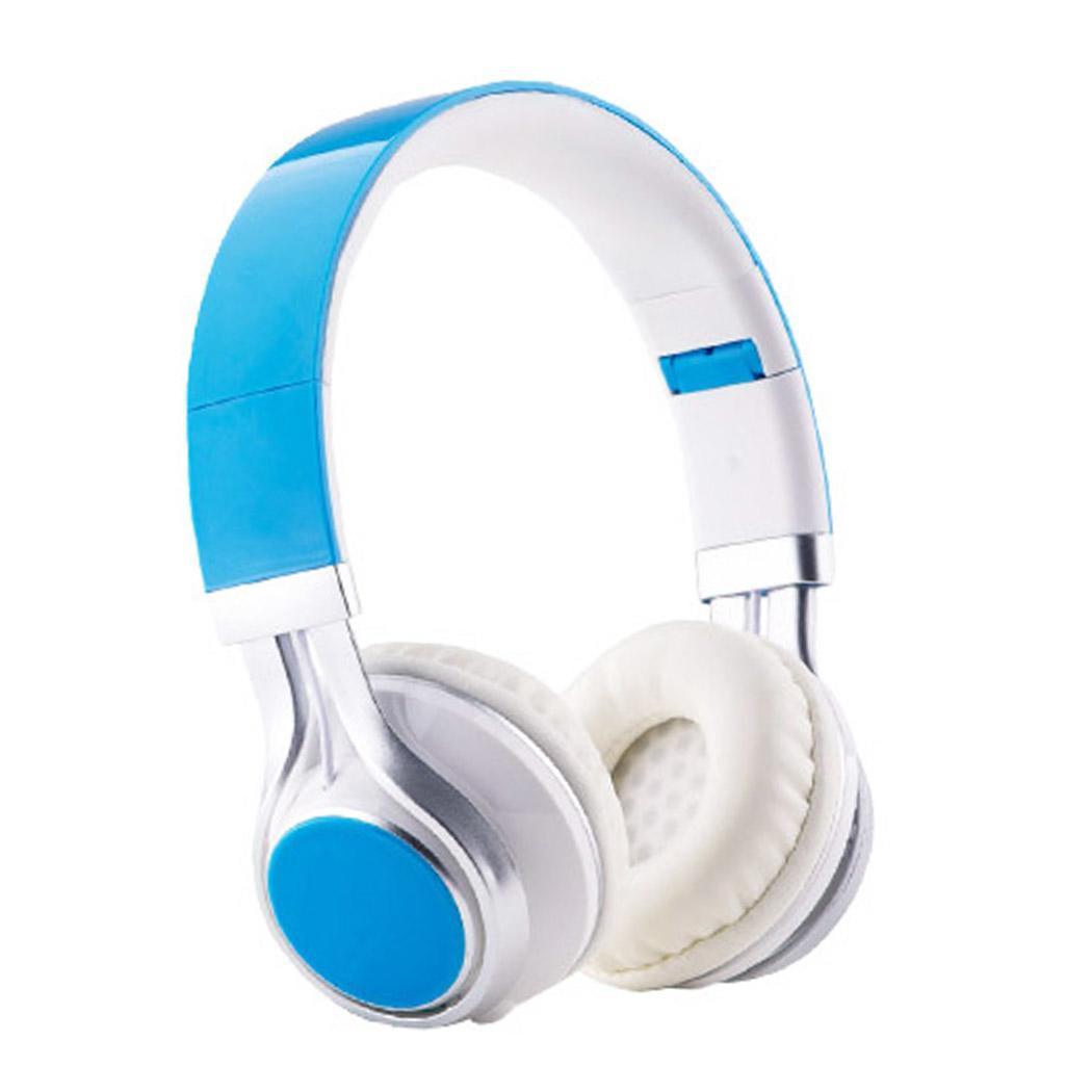 Foldable Wireless Headphone Voice Control Bluetooth Wireless Headphone Sports Earphone with Mic Artificial Leather Earmuffs HD