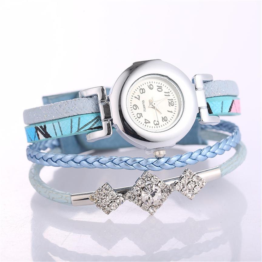 Fashion Diamond Bangle Watch Ladies Quartz Watch Lath Stainless Steel Watch Round Hook Clasp Watch #W