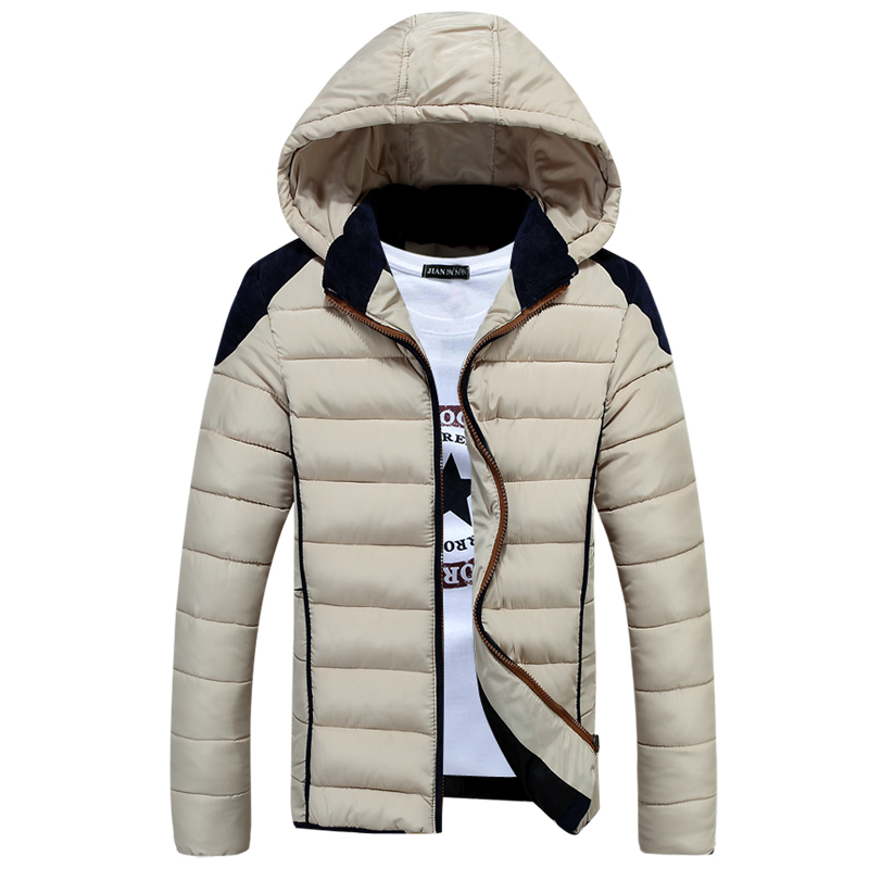 2015 Winter Brand New Plus Size XXXL Men Winter Jackets for Men Winter Hooded Cotton Down Jacket Man Winter Coat 50off winter brand new men winter cotton down jackets for men winter hooded jacket men winter coat plus size xxxl