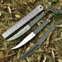Freien Taktische Gerade Messer Hohe Härte Damaskus Muster Camping Jagdmesser Überlebens Selbstverteidigung Tragbare Werkzeuge