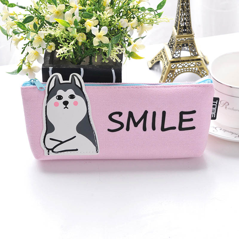 Cute Animal Pencil Case Stationery Gift Pencil Box Pen Bag Case School Office Supplies E2S