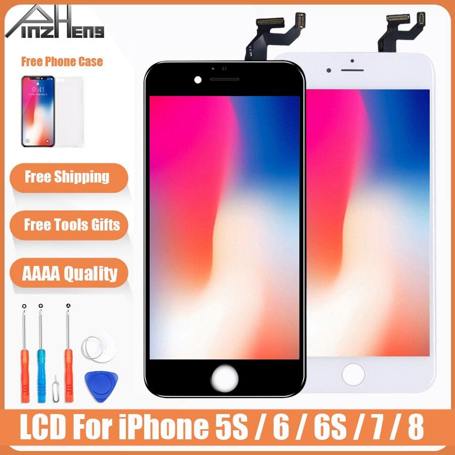 Pantalla de Color Original AAAA LCD para iPhone 5S 6 6s 7 8 LCD montaje digitalizador sin píxeles muertos con LCD de reemplazo táctil 3D
