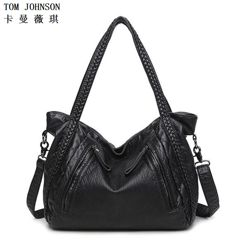 HOT 2 Size!! 2017 Leather Women Handbags Ladies big Shoulder Bags sheepskin bag