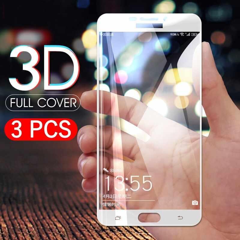 3 قطعة/الوحدة غطاء كامل المقسى زجاج عليه طبقة غشاء رقيقة لسامسونج A6 زائد A9 A5 A8 زائد A7 J4 J2Pro J2 J8 J6 2018 J5 واقي للشاشة HD