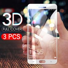 3pcs/Lot Full Cover Tempered Glass Film For Samsung A6 Plus A9 A5 A8 Plus A7 J4 J2Pro J2 J8 J6 2018 J5 Screen Protector HD(China)