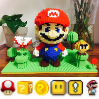 1830pcs YZ Mini Micro Building Blocks Bricks Toys DIY Red Super Mario Scene 66511 Miniature Building Blocks Ornament Kids Gifts