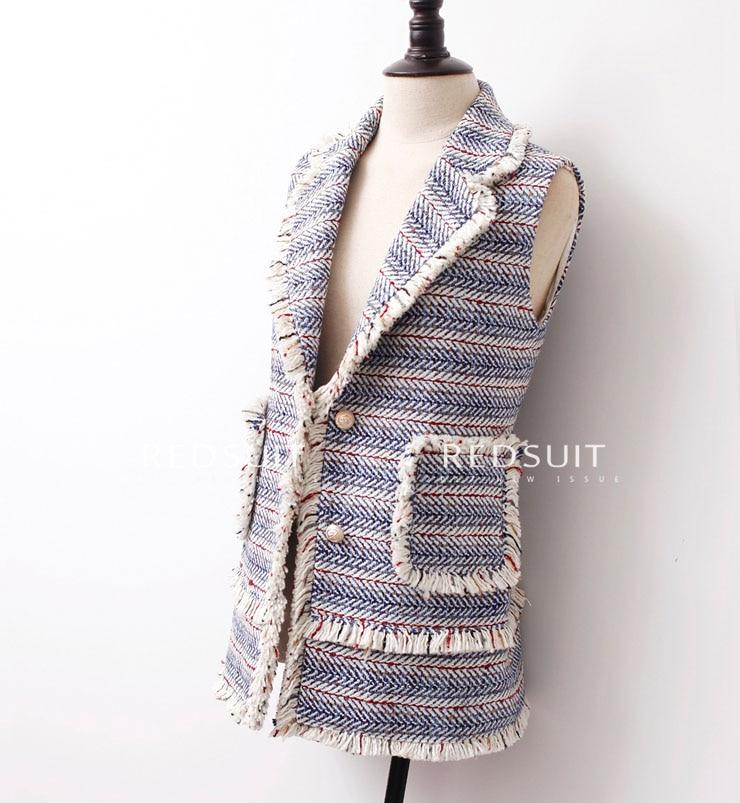high quality women's vest casual veste femme top,elegant tweed jacket women's winter colete,plus size 5xl 6xl chalecos mujer