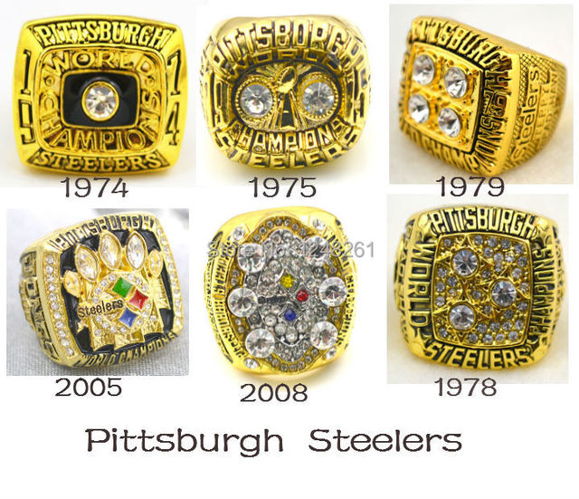 55f08bb85 NFL 1974 1975 1978 1979 2005 2008 all Pittsburgh Steelers Super Bowl  replica Championship Rings solid