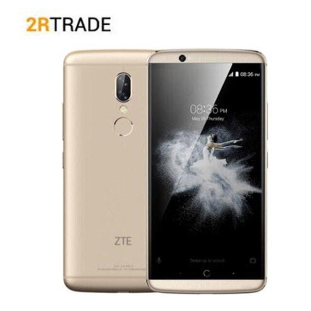 "Orijinal ZTE AXON 7S 4GB RAM 128GB 20.0MP Dört çekirdek 5.5 ""FHD 2560x1440 NFC 4G LTE Cep telefonu Smartphone"