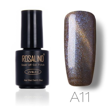 ROSALIND Professional 7ML Black Bottle Chameleon Cat Eyes Gel Polish LED Soak off  Semi Permanent Gel Lacquer Nail Varnish Nail Polish
