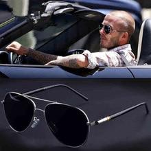 Mens Polarized Driving Sunglasses Vintage Pilot Eyewear Retro Shades Metal Eyeglasses Sport Sun Glasses Men Spring Hinge UV400