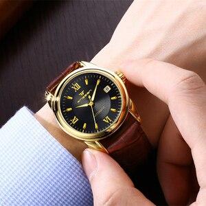 Image 4 - Montres mécaniques pour hommes marque de mode luxe Date calendrier montre bracelet homme automatique en acier montres squelette Relogio Masculino