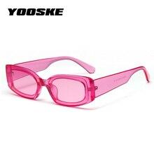 YOOSKE Sunglasses Mulheres Marca Designer Retro Óculos De Sol Do Vintage  Quadrado Pequeno Retângulo Eyewears Óculos de Sol Doce . c0bd4e91bc