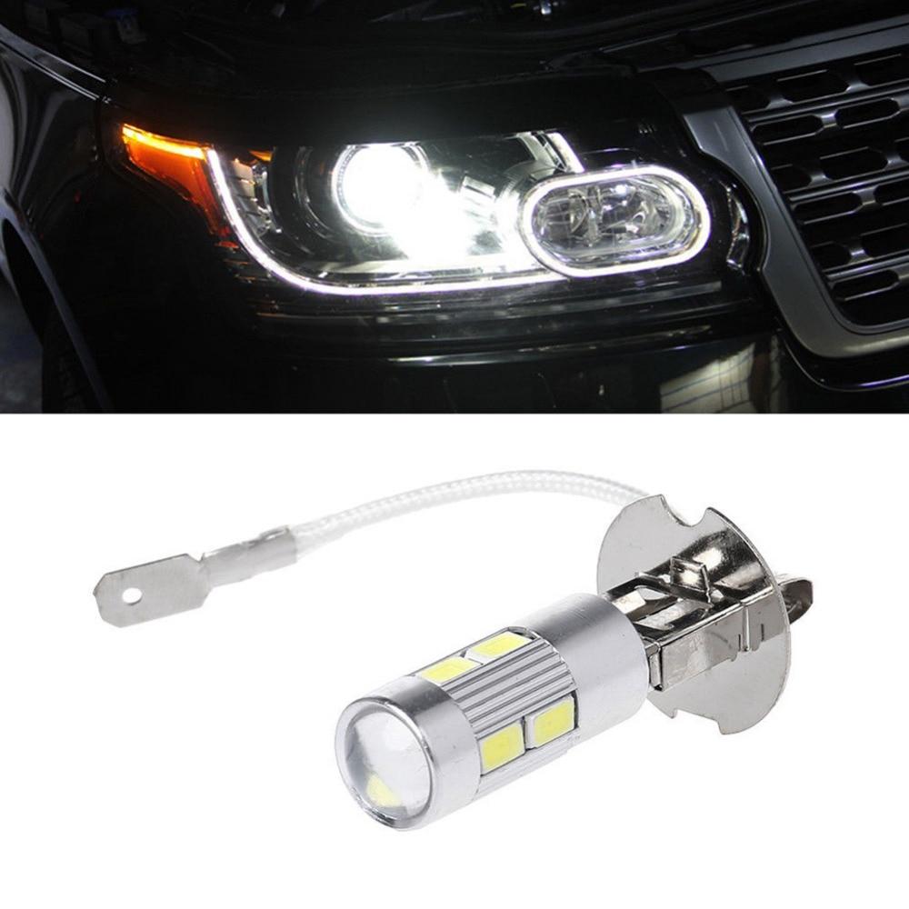 2pcs/lot Car Light H3 Led High Power Long Lifespan Led Fog Running Light Bulb 10smd 5630 5730 Super Bright Led Auto Bulb #272121 Delicious In Taste Car Fog Lamp