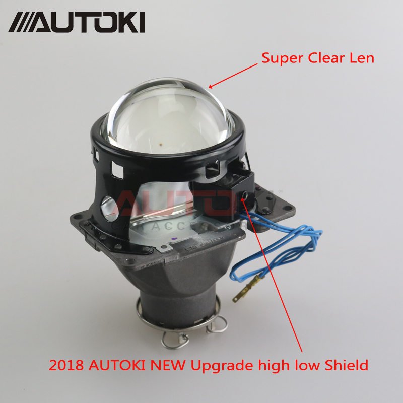 AUTOKI 3.0 inch H7 D2S HID Xenon/Halogen/LED Headlight Bi-Xenon Projector Lens LHD RHD For Car Styling Headlamp Tuning Retrofit