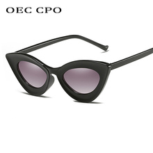 OEC CPO Vintage Cat Eye Sunglasses Women COOL Personality Triangle Sun Glasses For Men Retro Shopping Outdoor Goggles O41