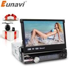 """Eunavi 7 """"Универсальный 1 DIN Аудиомагнитолы автомобильные dvd плеер + Радио + GPS навигации + Авторадио + стерео + Bluetooth + PC + DVD Automotivo + SD USB RDS AUX"""