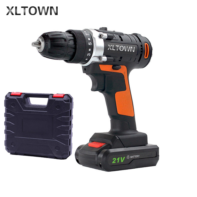 Xltown21v rechargeable lithium battery electric screwdriver high-quality household electric drill High end tools free shipping free shipping brand proskit upt 32007d frequency modulated electric screwdriver 2 electric screwdriver bit 900 1300rpm tools