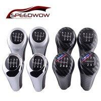 SPEEDWOW 5/6 Speed Gear Shift Knob MT Carbon Fiber Car Shift Lever Knob For BMW 1 3 5 6 Series E46 E53 E60 E61 E65 E90 E91 E92|Gear Shift Knob|Automobiles & Motorcycles -