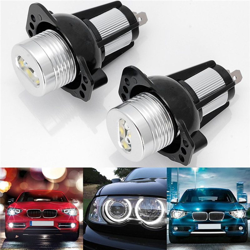 2pcs LED Marker Angel Eyes for BMW E90 Sedan/Saloon E91 Touring 3 SERIES 325i 328i 325xi 328xi 330i 05-08 White Color 12W