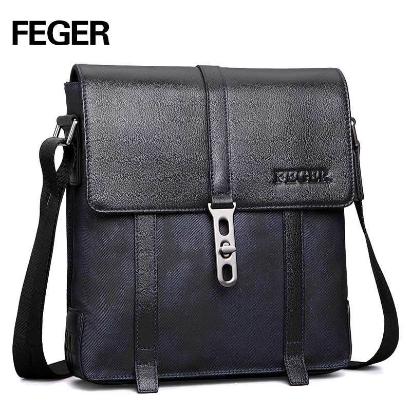 FEGER men 's shoulder bag vertical  Europe Europe and the United States fashion casual youth of briefcases shoulder bag hot fashion europe and the united states fashion oil wax kraft handbag vertical section zipper multi color ladies shoulder messe