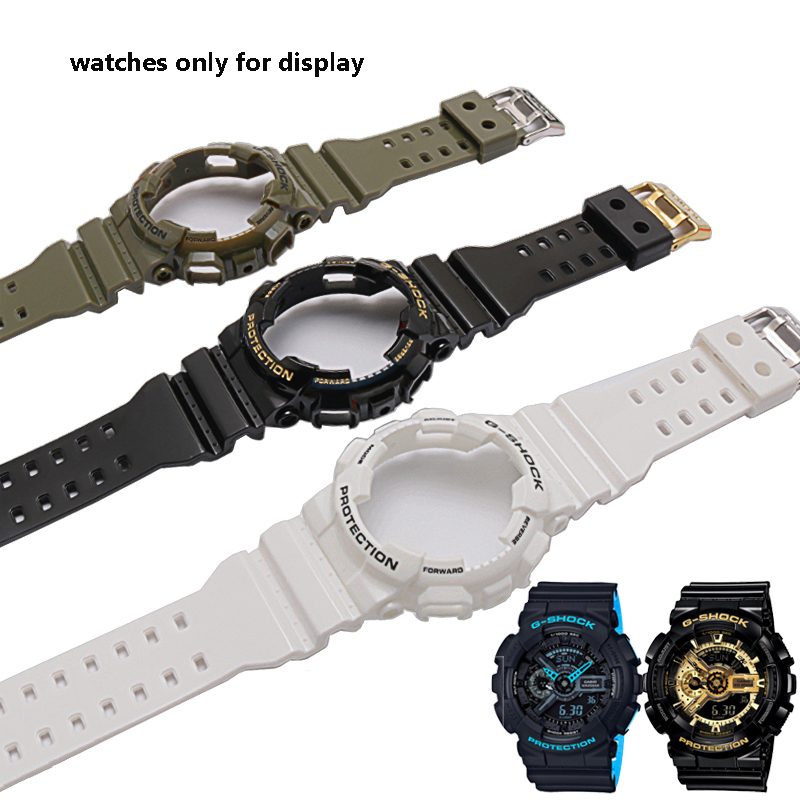 Rubber Watchcase Strap For Men's And Women's Suits Replaced By CASIO G-SHOCKGA-110 100 GD-120GD100