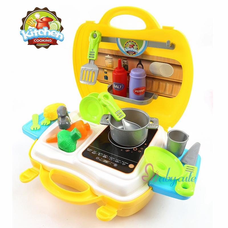Aliexpress Kids Kitchen Toys Set Mini Pretend Play Cooking Kit Plastic Food Pan Simalation Cooker Baby Clic Best Gift For From