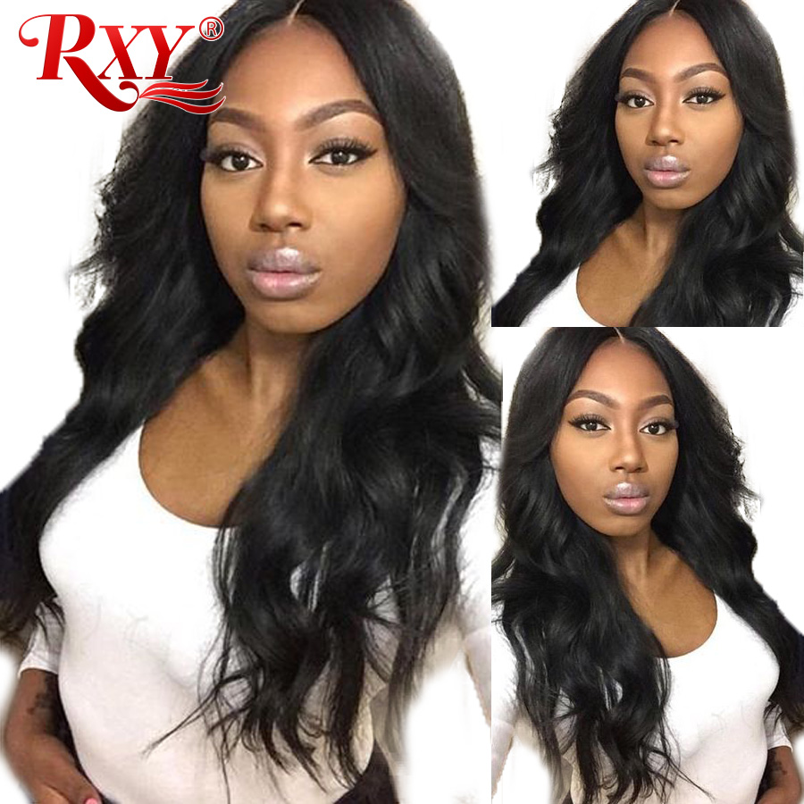 13x4 Glueless Lace Front Human Hair Wigs For Black Women Pre Plucked Brazilian Body Wave Lace Wig With Baby Hair RXY Remy Hair