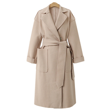 Brieuce Autumn Winter Suit Blazer Women 2019 Casual Formal Wool Coat Elegant Work Office Lady Long Sleeve Mujer Outerwear