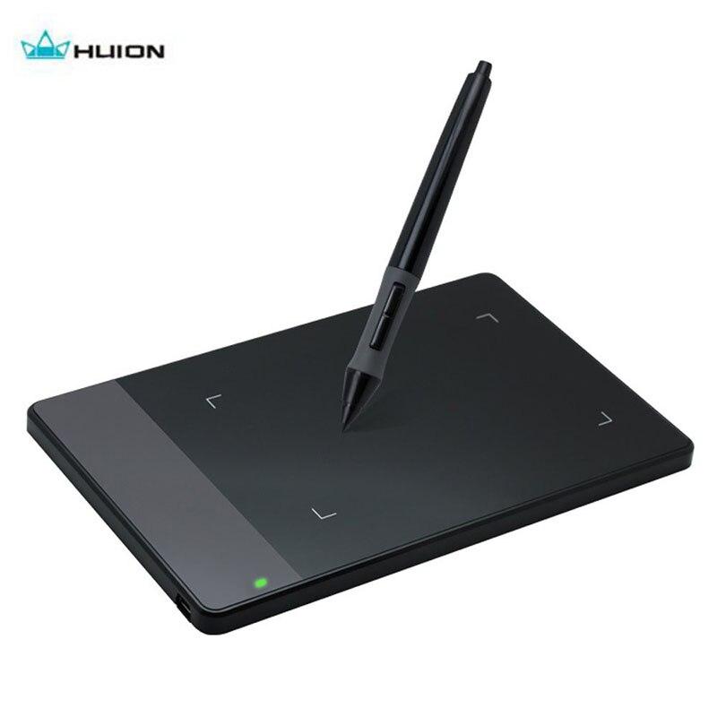 """Бесплатная доставка HUION 420 4x2.23 """"подпись Pad 2048 уровней Портативный ручка Планшеты с мини USB Новый Интеллектуальный драйвер для WINS Mac"""