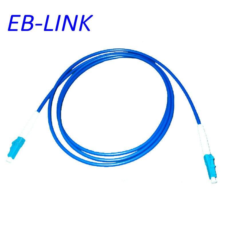 Крытый бронированный 15 м LC / PC-LC / pc, 3.0 мм, одномодовый 9/125, симплекс, оптическое волокно патч-корд кабель, LC для LC