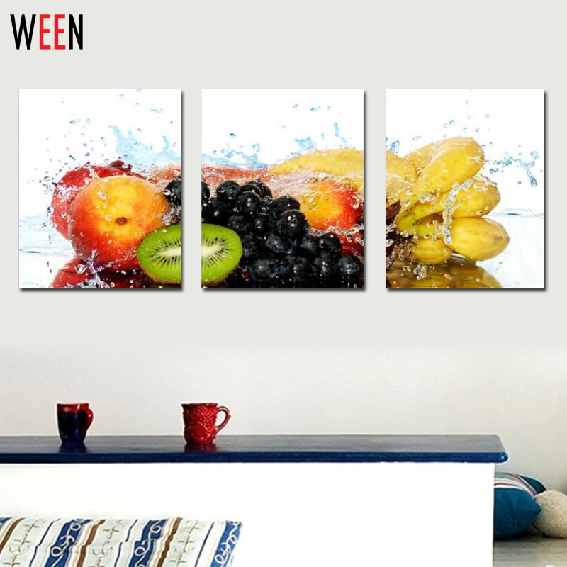 3 Piece Modern Wall Painting Kitchen Fruits Home Decorative Art Picture Paint On Canvas Prints Cuadros